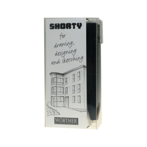 Worther SHORTY Clutch Pen Black, Clip Grey<p> incl. 6 spare leads<p>#12017 <p/>