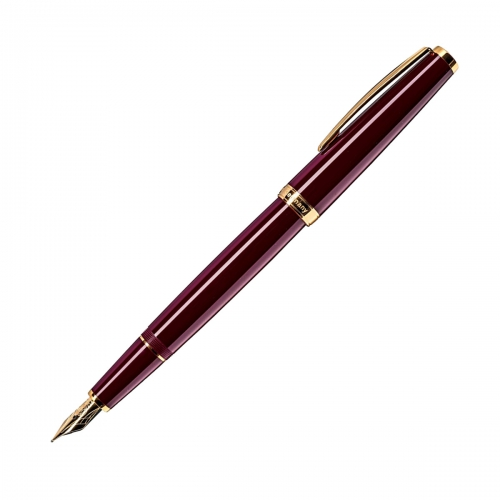Cleo Classic Gold Bordeaux <p>Fountain Pen <p/>F#24083, M#24084, B#24085<p/>
