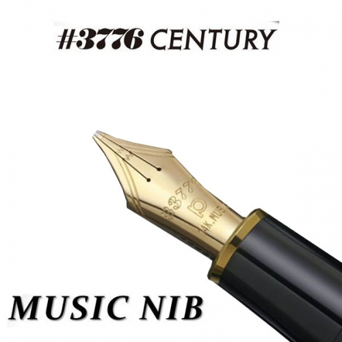 Platinum #3776 Century<p>Music Black in Black <p>Fountain Pen <p>PNBM-20000#1<p/>