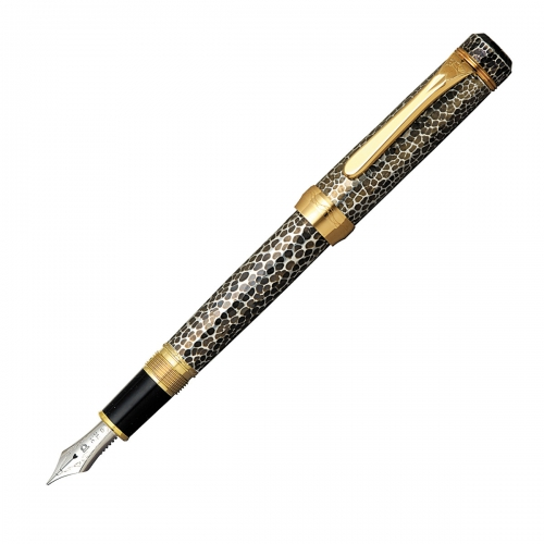 Platinum Hammered Antique Sterling Silver Tankin Furubi <p>Fountain Pen<p>PP-100000H#98</p>