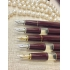 Cleo Classic Gold Bordeaux Piston Fountain Pen <p/>F#24080, M#24081, B#24082<p/>